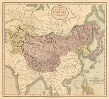 Asia, China, Korea, Central Asia & Caucasus and Russia in Asia Map By John Cary