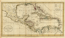 Southeast and Caribbean Map By William Guthrie