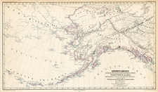 Alaska, Canada, Asia and Russia in Asia Map By Augustus Herman Petermann