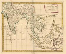 Asia, India, Southeast Asia and Philippines Map By Antonio Zatta