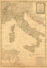 Europe, Italy and Balearic Islands Map By Eustache Herisson