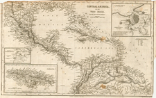 South, Southeast, Southwest, Mexico, Caribbean and Central America Map By Harper & Brothers