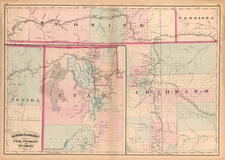 Plains, Southwest, Rocky Mountains and Utah Map By Asher  &  Adams