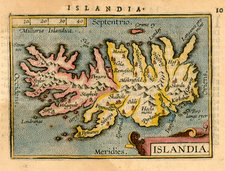 World, Atlantic Ocean, Europe and Iceland Map By Abraham Ortelius / Johannes Baptista Vrients