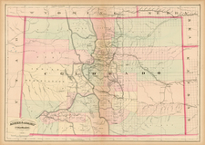 Southwest and Rocky Mountains Map By Asher  &  Adams