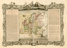 Europe and Europe Map By Louis Brion de la Tour / Louis Charles Desnos