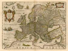 Europe Map By Henricus Hondius