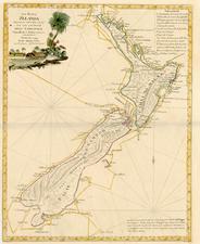 Australia & Oceania and New Zealand Map By Antonio Zatta
