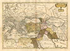 Balkans, Italy, Mediterranean, Balearic Islands, Central Asia & Caucasus, Middle East, Holy Land and Turkey & Asia Minor Map By Tipografia del Seminario