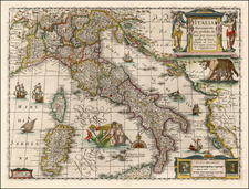 Europe and Italy Map By Jan Jansson
