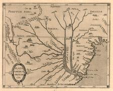 South America Map By Cornelis van Wytfliet