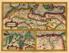 Egypt and North Africa Map By Henricus Hondius