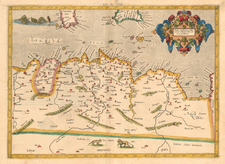 Africa and North Africa Map By  Gerard Mercator