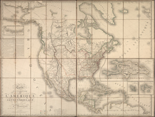United States, Plains, Rocky Mountains and North America Map By Adrien-Hubert Brué