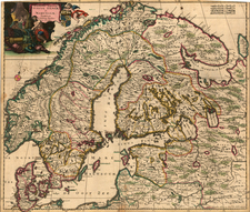 Russia, Baltic Countries and Scandinavia Map By Justus Danckerts