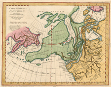 World, Polar Maps, Alaska, North America and Canada Map By Denis Diderot / Didier Robert de Vaugondy