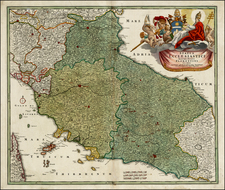 Europe and Italy Map By Johann Baptist Homann