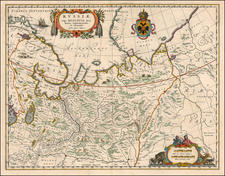 Europe and Russia Map By Johannes et Cornelis Blaeu