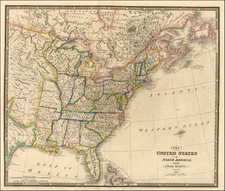 United States, South, Midwest and Plains Map By James Wyld