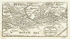 South, Texas, Southwest and Mexico Map By John Cowley