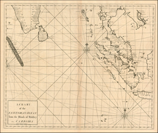 India and Southeast Asia Map By Edmund Halley / Nathaniel Cutler / Samuel Parker