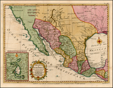 South, Texas, Southwest, Mexico, Baja California and California Map By Strahan  &  Cadell