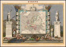 Europe and Europe Map By Victor Levasseur