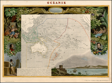 Australia & Oceania and Oceania Map By Victor Levasseur