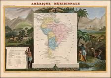 South America Map By Victor Levasseur