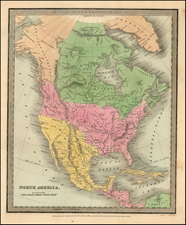 North America Map By David Hugh Burr