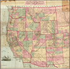 Plains, Southwest, Rocky Mountains and California Map By Gaylord Watson