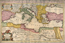 Europe, Russia, Ukraine, Balkans, Italy, Turkey, Mediterranean, Turkey & Asia Minor, North Africa, Balearic Islands and Greece Map By William Berry