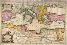 Europe, Russia, Ukraine, Balkans, Italy, Turkey, Mediterranean, Turkey & Asia Minor, North Africa, Balearic Islands and Greece Map By William Berry