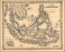 Asia, Southeast Asia, Australia & Oceania and Other Pacific Islands Map By G.W.  & C.B. Colton