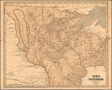 Midwest and Plains Map By Sidney Morse  &  Samuel Breese