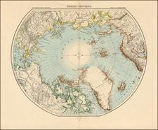 Polar Maps Map By Louis Vivien de Saint-Martin