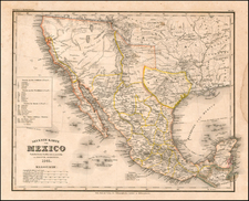 Texas, Southwest, Mexico and California Map By Joseph Meyer / Carl Radefeld