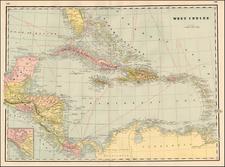Caribbean Map By George F. Cram