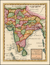 Asia and India Map By Herman Moll