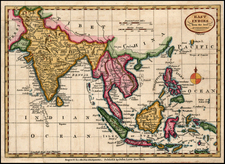 Asia, India, Southeast Asia and Philippines Map By John Payne