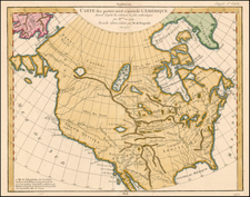 Alaska, North America and California Map By Denis Diderot / Didier Robert de Vaugondy