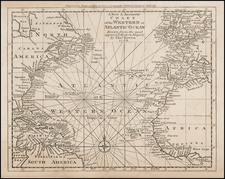 World, Atlantic Ocean, United States and North America Map By Thomas Bowen