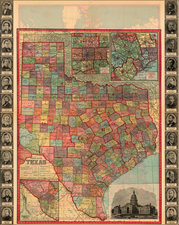 Texas Map By Geographical Publishing Co.