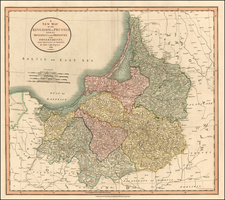 Poland, Baltic Countries and Germany Map By John Cary