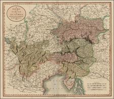 Austria Map By John Cary