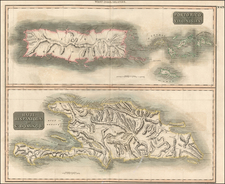 Caribbean Map By John Thomson