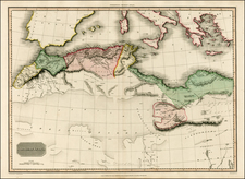Mediterranean, Balearic Islands and North Africa Map By John Pinkerton