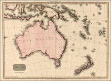 Asia, Southeast Asia, Australia & Oceania, Australia, New Zealand and Other Pacific Islands Map By John Pinkerton