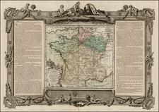 France Map By Louis Brion de la Tour