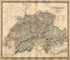 Switzerland Map By W. & A.K. Johnston